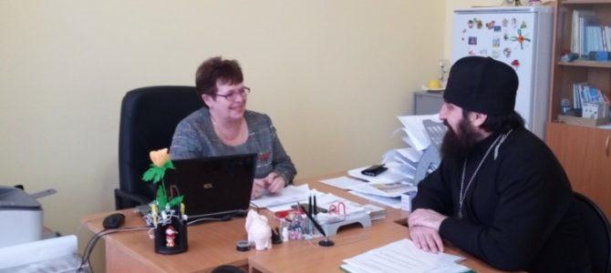 Состоялась встреча настоятеля Петропавловского храма с директором Лицея №1 города Камбарки